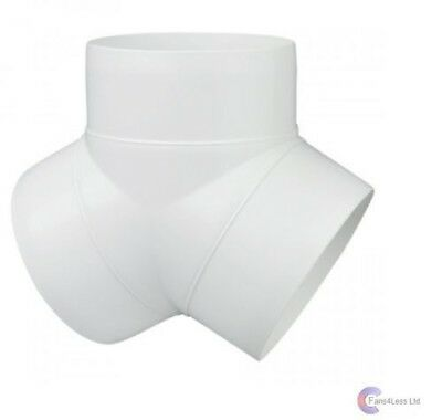 100mm 4 Inch PVC DUCTING Y PIECE, Y PIECE FOR FANS EXTRACTOR FANS