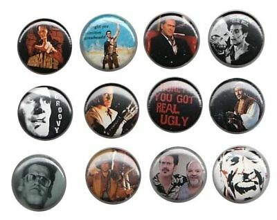 Bruce Campbell of Evil Dead: Set of 12 Buttons-Pins-Badges Army of Darkness