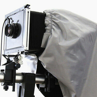 "Dark Cloth Focusing Hood Silver Black Color 4x5"" Large Format Camera Wrapping"