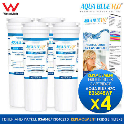 4X NSF Certified Fisher & Paykel Replacement Fridge Water Filter 836848 836860