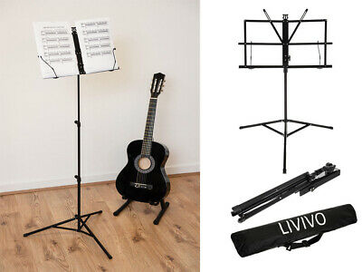 Music Sheet Stand Heavy Duty Holder Tripod Base Height Adjustable Orchestral