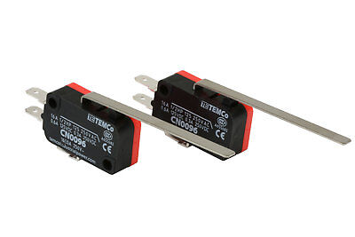 2 pc TEMCo Micro Limit Switch Long Lever Arm SPDT Snap Action CNC home LOT