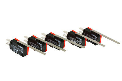 5 pc TEMCo Micro Limit Switch Long Lever Arm SPDT Snap Action CNC home LOT