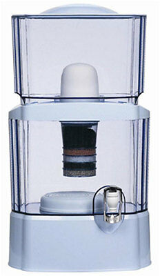 24L WATER FILTER BOTTLE BENCH TOP DISPENSER CERAMIC CARBON MINERAL PURIFIER new