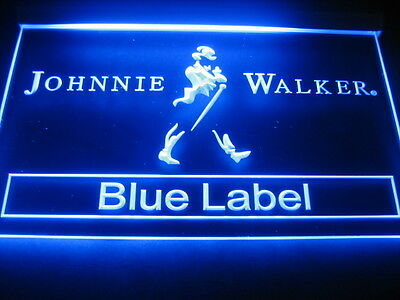 W0206 B Johnnie Walker BLUE LABEL Whiskey Bar LED Light Sign