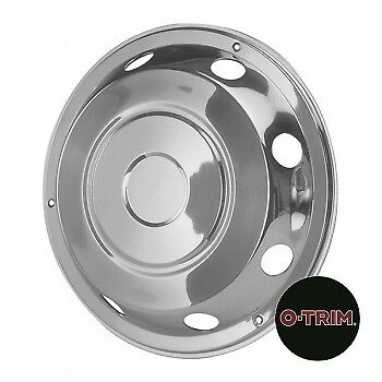 "2 x 17.5"" Leyland DAF Front wheel trims hub caps covers stainless steel"