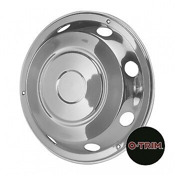"2 x 17.5"" Iveco Front wheel trims hub caps covers stainless steel"