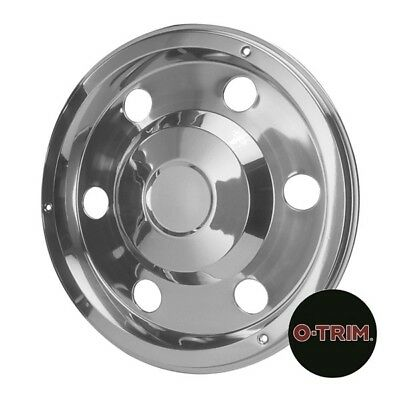 """2 x 17.5"""" Mercedes Rear wheel trims hub caps covers stainless steel"""