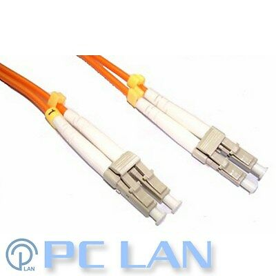 LC to LC 62.5/125 Multimode Fibre Optic Patch Lead Cable 1m