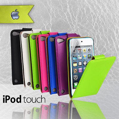 6 Colours Premium Flip leather Case Cover for iPod Touch 5 5G 5TH GEN+ Free SP