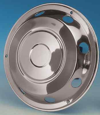 """2 x 19.5"""" Leyland DAF Front wheel trims hub caps covers stainless steel"""