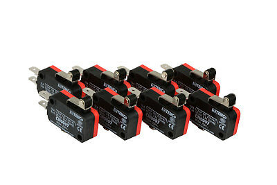 8 pc TEMCo Micro Limit Switch Short Roller Lever Arm SPDT Snap Action home LOT
