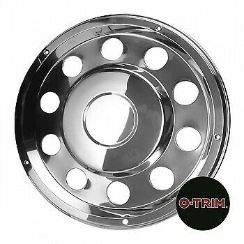 "2 x 22.5"" Volvo Rear wheel trims hub caps covers stainless steel"