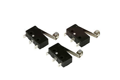 3 pc TEMCo Micro Limit Switch Roller Arm Subminiature SPDT Snap Action LOT