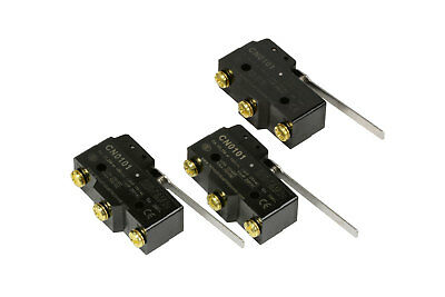 3 LOT TEMCo HEAVY DUTY 15A Micro Limit Switch Long Lever Arm SPDT Snap Action