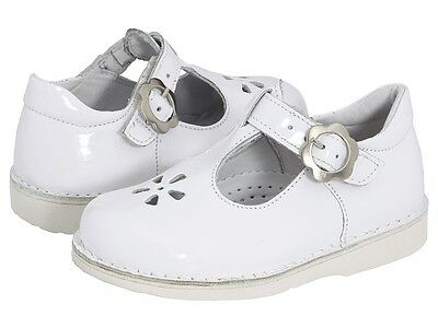New Kid Express Molly Mary Jane Flat White Patent Leather Infant Toddler Youth