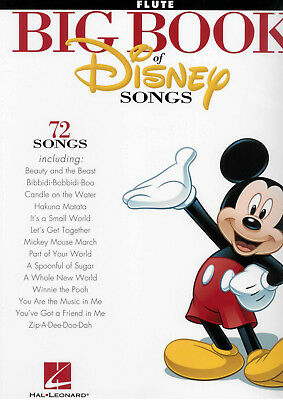 BIG BOOK OF DISNEY SONGS - Flute Sheet Music *NEW* 72 Favorite Hits from Movies!