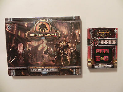Privateer Press Iron Kingdoms- Fantasy-RPG-GM-Toolkit-khador Faction dice-lot