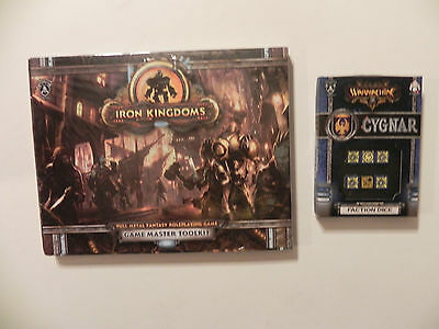 Privateer Press Iron Kingdoms- Fantasy-RPG-GM-Toolkit-cygnar- Faction dice-lot