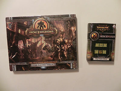 Privateer Press Iron Kingdoms- Fantasy-RPG-GM-Toolkit-mercs  Faction dice-lot