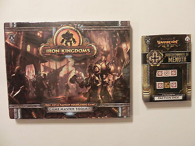 Privateer Press Iron Kingdoms- Fantasy-RPG-GM-Toolkit-menoth  Faction dice-lot