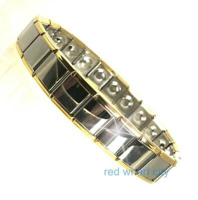 Mens Expanding Stainless Steel Magnetic Therapy Bracelet-Arthritis Pain Relief
