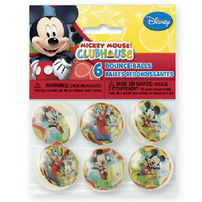 Disney MICKEY MOUSE CLUBHOUSE~ (6) Bounce Balls~ Birthday Party Supplies Favors