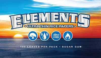 12 Elements Single Wide Rolling Paper 1200 Papers Ultra Thin Rice 70Mm Slow Burn
