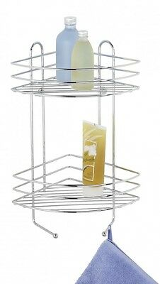 Wenko 2-Tier Exclusive Bath Corner Rack Storage in Chrome