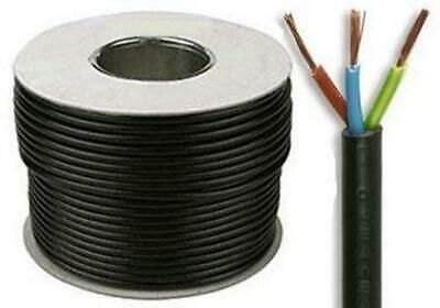 Black Flex 3183Y 2.5mm 24 Amp 3 Core Flexible Cable All Lengths 1m 5m 10