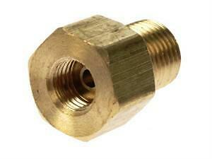 Pack of 10 3//8 X 24 thread female 1//2 X 20 thread male Inverted Flare Brass Adapter Fitting