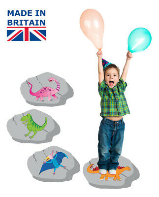 Dinosaur party games - 3 in 1 pack for kids parties, stepping stones, ebay