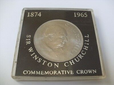 1965 Sir Winston Churchill Commemorative Crown Cased Coin