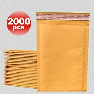 SuperPackage® 1500 #000  4 X 8  Kraft Bubble Mailers Padded Envelopes