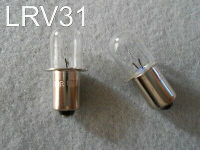 (2) PORTER CABLE 18 v VOLT Flashlight Replacement Xenon Bulb / PC18FL - PCL180L