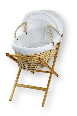 NEW Baby MOSES BASKET / Bassinet  and NATURAL CLASSIC X STAND Package