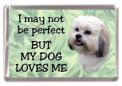 "Lhasa Apso Dog Fridge Magnet No.1. ""I may not be perfect BUT ....."" by Starprint"