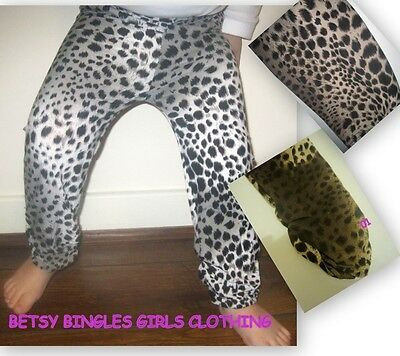 Girls gorgeous Leopard leggings trousers age 3 4 5 6 7 8 9 11 12 13 14 years