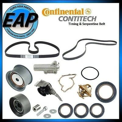 For A6 Allroad Quattro S4 Timing Serpentine Belt Water Pump Thermostat Seal Kit