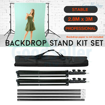 2.8x3M Photo Studio Video Photography Lighting Backdrop Background Support Stand