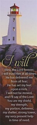 """Lot/ Set/10 Christian Bookmarks """"i Will Bless The Lord Forever"""""""