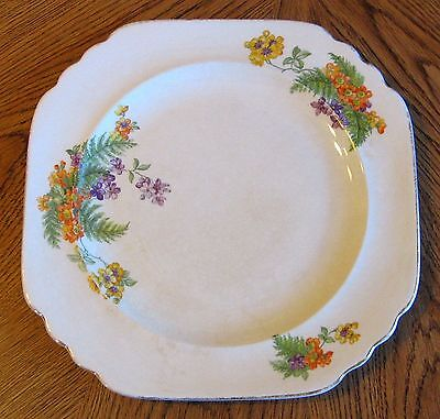Vintage Limoges China Luncheon Plate Fern with Gold Trim Sebring Ohio American