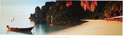 ART POSTER~Thailand Island of Phi Phi Oldest Community Boat on Water Horizon KOH