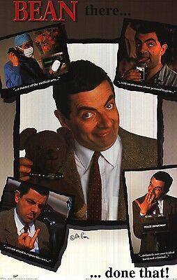 ENTERTAINMENT POSTER~Rowan Atkinson Mr Bean Been There, Done That Collage Funny~