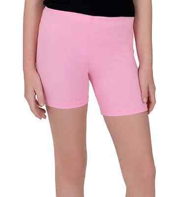 Cotton Spandex Bike Shorts Leggings Mid-Thigh GIRLS Ages 1-12 MADE IN USA