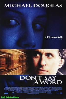 "MOVIE POSTER~Don't Say a Word 2001 Double Sided D/S Original 27x40"" Sheet~1"