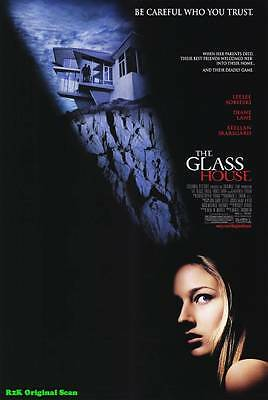 """MOVIE POSTER~The Glass House 2001 Double Sided D/S Original 27x40"""" One Sheet~1"""