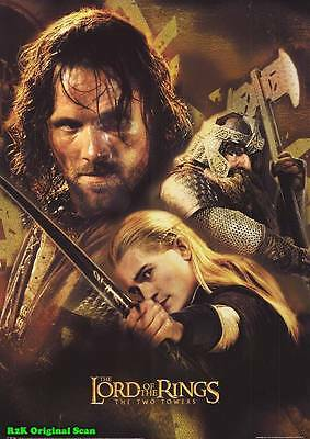 MOVIE POSTER~Two Towers Lord of the Rings 2002 Film Sheet Viggo Mortensen~1 3386