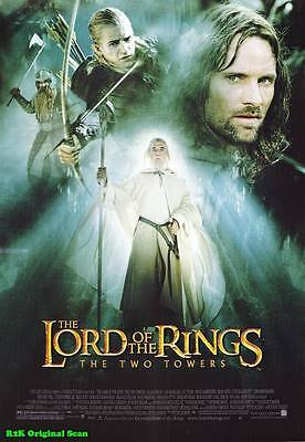 MOVIE POSTER~Two Towers Lord of the Rings 2002 Film Sheet Viggo Mortensen~1 3536