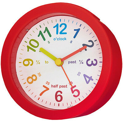 Acctim Childrens Lulu Alarm Clock Red Mini Tell The Time Colourful Easy to Read